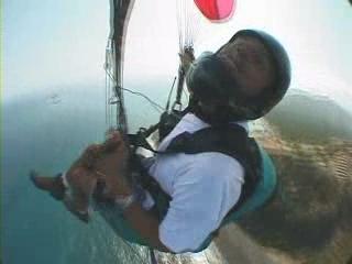 Paragliding at Kahana Bay with models