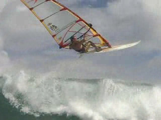 Windsurfing at Diamond Head on Oahu